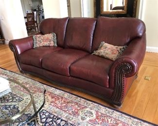 Ethan Allen Leather Sofa-clean and in excellent condition.  No fading or animals in the home.