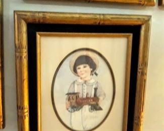 Several Jan Hagara pictures with beautiful framing.  Some signed and numbered.