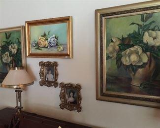 Lots of original paintings.  Marilynn Green