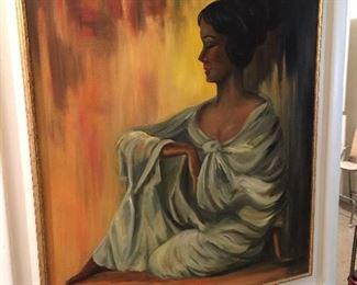 Huge original oil on canvas.  Very groovy.