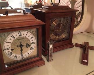 Mantle clocks.