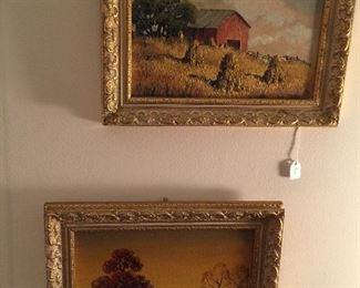 Two original oil paintings, 8x10