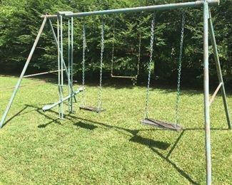 Heavy duty metal swing set!