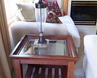 CHERRY END TABLE WITH STORAGE
