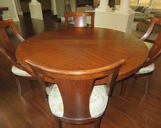 Contemporary Baluster Pedestal Dining Table &  8 Sling Chairs