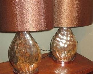 Silver Lamps (pair)
