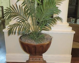Plant in Gold Urn