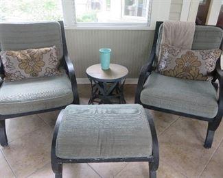 Lightweight Cast Aluminum Patio Chairs