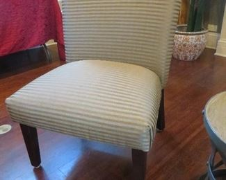 Horizontal Striped Accent Chair