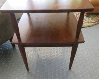 Mid-Century Modern Two-Tiered Side Table