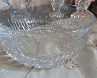 Vintage Ceska Crystal Bowl