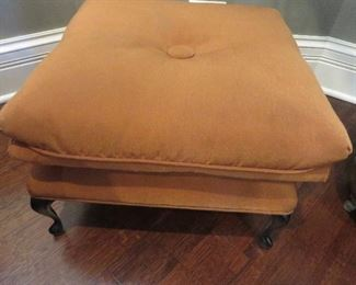 Iron Footstool with Pillow Top