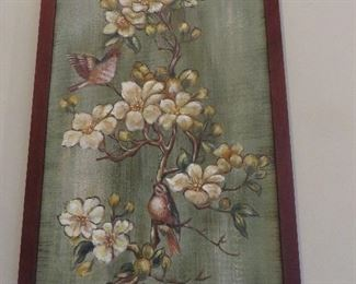 """Birds on Cherry Blossom Branch"" Artwork"