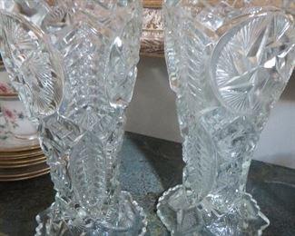 Pair of Crystal Vases