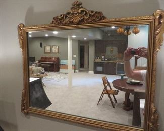 Vintage Ornate Gold Wall Mirror