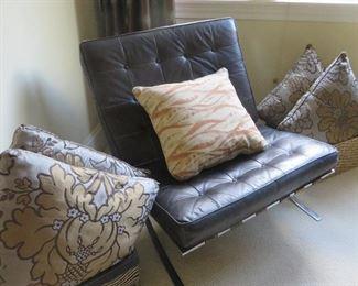 Vintage Barcelona Chair  Assortment of Pillows