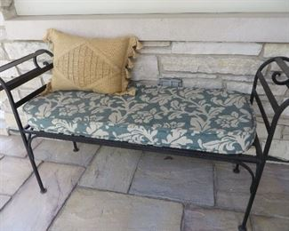 Garden Bench Rolled Arms