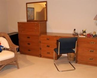 Modernist Campaign Style bedroom
