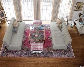 """Fantastic color Kirmin rug, 9'6"""" X 13' 7"""""""