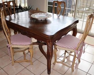 Country French style table & chairs