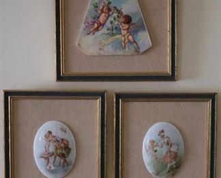 Decorative porcelain mounted plaques