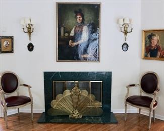 Original Artwork and antique and decorater furniture throughout