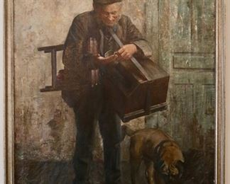 """19th century oil painting signed """"J.Klopper '96"""""""