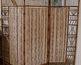 Many pieces bamboo furniture