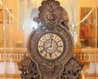 Lenzkirch highly ornamental mantle clock