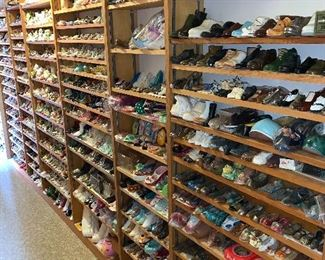 Perhaps the LARGEST MINIATURE SHOE, BOOT, & SLIPPERS COLLECTION anywhere.