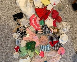 """8"""" Betsy McCall Doll plus clothing & accessories - will be sold as one lot."""