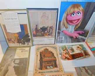 Hundreds of vintage music related ephemera as well as sheet music and song books!