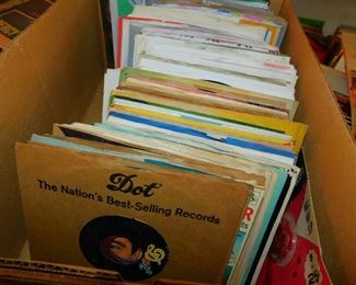 """Many 45 Records - (Many Classic Rock & Juke Box Era) - Close up photos of MANY OF THE 45's will be on our Facebook Page the week of the sale! Due to photo limit restrictions here on .net , we always include additional photos on  our Facebook Page for every sale! """"LIKE US'"""" at www.facebook.com/MarylandsBestEstateSales"""