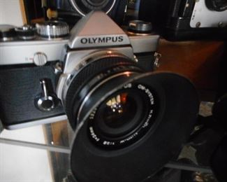 Olympus 35mm Camera with Lens