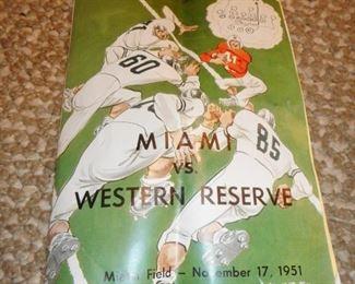 Vintage Football Program