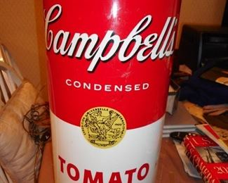 Campbell Tomato Soup Waste Basket