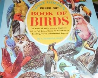 Golden Book Cut Out of Birds..Never Cut