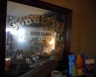 LARGE Schweppes Mirror Framed