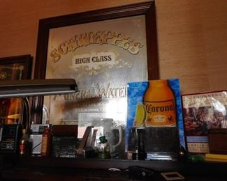 Vintage Schweppes Large Mirror Framed