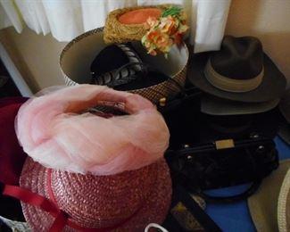 Vintage Hats. Marshall Field, Saks, Christina dior