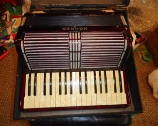 Vintage Horner Verdi II Accordion and Case