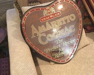 Amaretto Cognac Shape of Heart Mirror