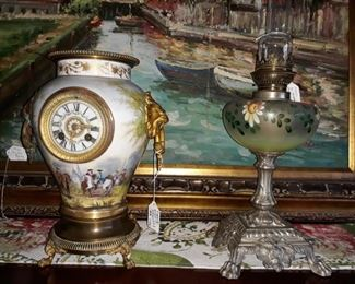 EARLY FRENCH BROCOT CLOCK FROM HOME OF DIGNITARY IN D.C. EXTREMELY NICE AND WORKING.