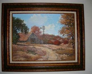 W.A. Slaughter oil on canvas - autumn scene