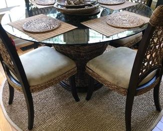 Glass Top Dining Table w/4 Chairs