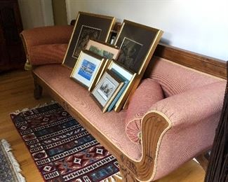 Empire Style Sofa w/Thai Silk Upholstery
