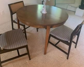 Dunbar Round Table Ed Bromley for Dunbar 1960's- Rattan seating. Asking $4,200.00