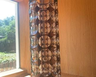 Vintage Mid Century Modern Czech/Bohemian  Art Glass Modernist  Vase- Asking $700