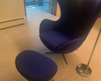 Mid century period not a reproduction Egg Chair Cobalt Blue Eames era asking $2000