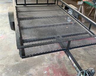 Lowe's 5' x 8' trailer with drop down rear gate &  mesh bottom